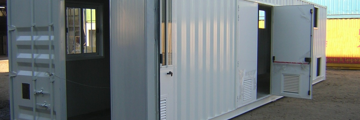 Vendita e noleggio containers box monoblocchi in lamiera for Box ufficio usato